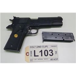 COLT , MODEL:  MKIV 70 SERIES GOLD CUP NATIONAL MATCH , CALIBER:  .45 ACP