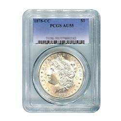 1878-CC $1 Morgan Silver Dollar - PCGS AU55