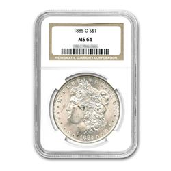 1885-O $1 Morgan Silver Dollar - NGC MS64
