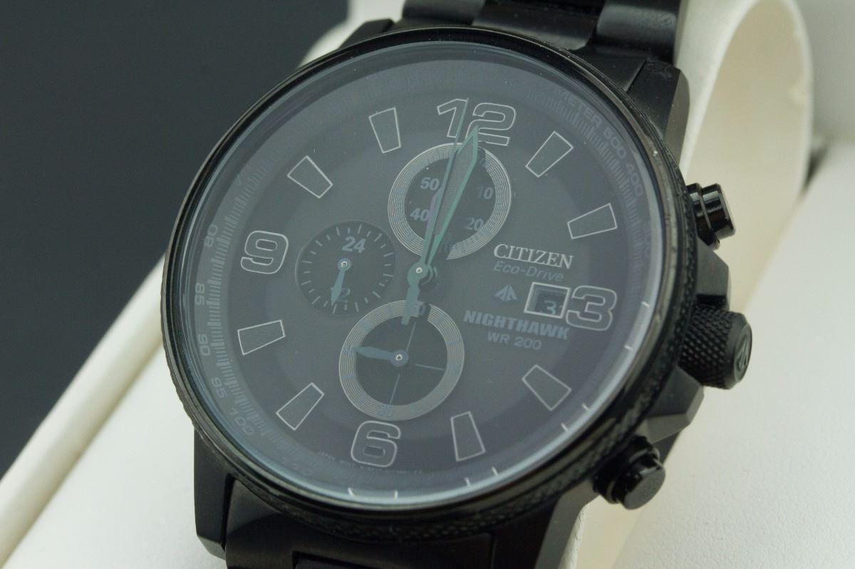 Citizen Men S Eco Drive Nighthawk Wrist Watch