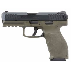 "HK M700040GRA5 VP40 Double 40 Smith & Wesson (S& W) 4.09"" 13+1 2 Mags 3-Dot OD Green Interchangeable"