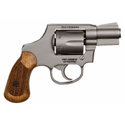 "Rock Island 51289 Revolver M206 Spurless Single/Double 38 Special 2"" 6 Wood Nickel"