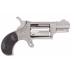 "NAA 22LRGRCHS 22 Mini Revolver Carry Combo Single 22 Long Rifle 1.13"" 5 Black Rubber Stainless"