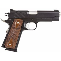 "MagResearch DE1911C Desert Eagle Cmpct 45ACP 4.33"" 7+1 Dbl Diamond Wood Grip Blk"