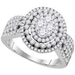 Genuine 1.62 CTW Diamond Ladies Ring 10KT White Gold - GD109572-REF#221R4H