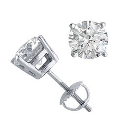 14K White Gold Jewelry 2.0 ctw Natural Diamond Stud Earrings - WJA1271 - REF#521H4F