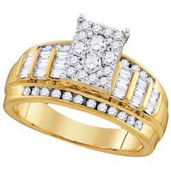 Genuine 0.85 CTW Diamond Ladies Ring 10KT Yellow Gold - GD110164-REF#62X9Y