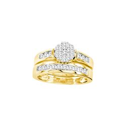 Natural 0.75 ctw Diamond Bridal Set Ring 14K Yellow Gold - GD19675-REF#125R9K