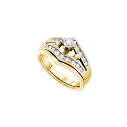 Natural 0.25 ctw Diamond Bridal Ring 10K Yellow Gold - GD49508-REF#32M3G