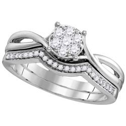 Genuine 0.33 CTW Diamond Ladies Ring 10KT White Gold - GD109784-REF#40W5G