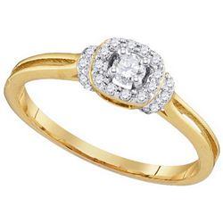 Natural 0.25 ctw Diamond Bridal Ring 10K Yellow Gold - GD97186-REF#32N3F