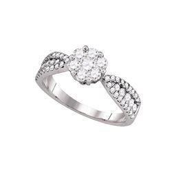 Natural 1.0 ctw Diamond Bridal Ring 14K White Gold - GD76184-REF#116G9W
