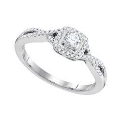 Natural 0.33 ctw Diamond Bridal Ring 10K White Gold - GD95723-REF#41Z3Y
