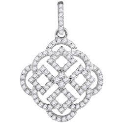 Genuine 0.50 CTW Diamond Pendant 10KT White Gold - GD103982-REF#32W3G