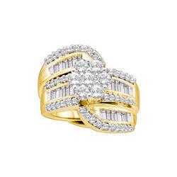 Natural 2.0 ctw Diamond Bridal Set Ring 14K Yellow Gold - GD16283-REF#257A3N