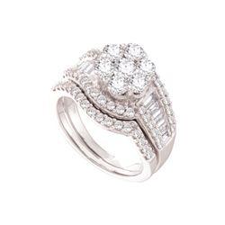 Natural 2.0 ctw Diamond Bridal Set Ring 14K White Gold - GD44426-REF#269R9K