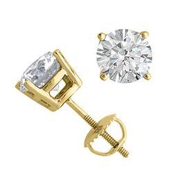 14K Yellow Gold Jewelry 2.0 ctw Natural Diamond Stud Earrings - WJA1261 - REF#519A2W