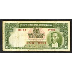 Central Bank of Turkey. 1937 ND Issue.