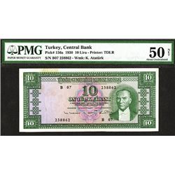 Central Bank of Turkey. 1930 Law Issue.