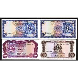 Bank of Uganda. 1966-82 Issues.