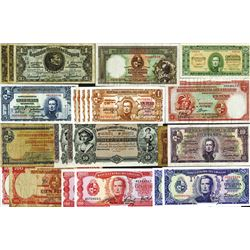 Selection of Uruguay issuers including Banco de Londres; Republica Oriental and Banco Central. 1883-