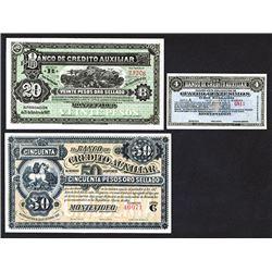 Banco de Credito Auxiliar. 1887 Issue.