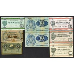 Faeroer and Eesti Pank and Vabariigi. 1940-49 Issues.