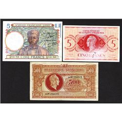 Republique Francaise and French Equatorial Africa issues.