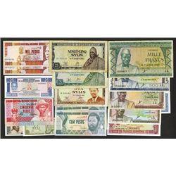 Banque Centrale de la Republique Guinee and Banque Central da Guine-Bissau issues.
