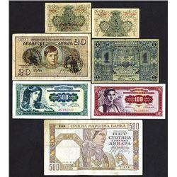 Montenegro, Serbia and Yugoslavia lot.