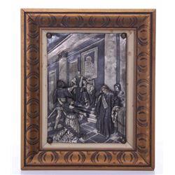Rare antique metal relief sculpture depicting Othello.