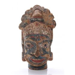 19th Century Southeast Asian wood carved ritual mask wr