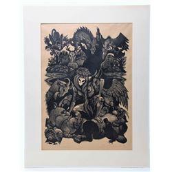 Fritz Eichenberg (1901-1990) Well listed artist, origin