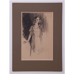 Frederick Sands Brunner (1886-1954) Original pencil dr