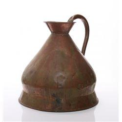 Late 18th to early 19th Century copper graduated jug, E