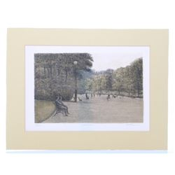 Colored Etching pencil signed Harold Altman  (1923-2003