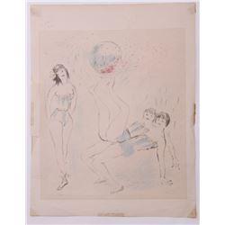 Marcel Vertes   (1895-1961) 1941 lithograph on laid pap
