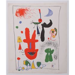 Joan Miro pencil signed Gallery Exhibition Lithograph C