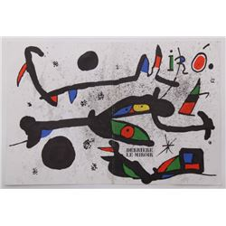 "Joan Miro' (1893-1983) original lithograph for ""Dierrie"