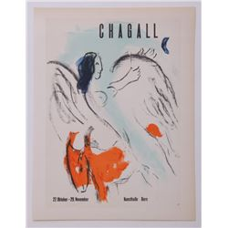 Marc Chagall, Exhibition lithograph for Chagall at Kuns