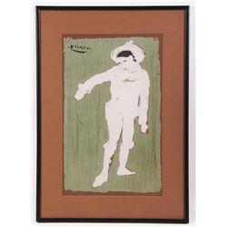 "Pablo Picasso (1881-1973), ""Le Petite Pierrot"" (Small C"