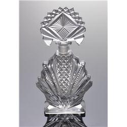 Early 20th Century deco period cut crystal perfume bott