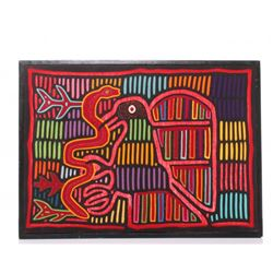 """Mid Century """"Eagle and Snake"""", a brilliant colored hand"""