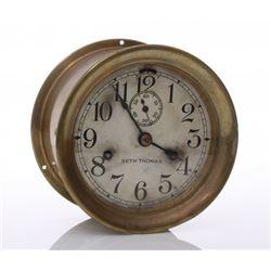 "Seth Thomas inside bell ships clock.  Markings: ""Sub Ch"