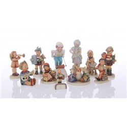 Eleven(11) mixed lot of Goebel figurines.  SIZE: see at