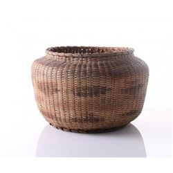 Native American weaved seed basket.  SIZE: see attached