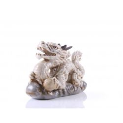 Japanese porcelain dragon figure of claw and ball.  SIZ