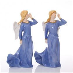 Two(2) Goebel West Germany porcelain singing Angels.  S