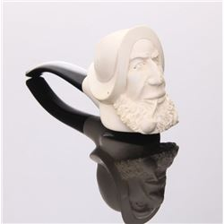 Early 20th Century Meerschaum pipe, hand carved.  SIZE: