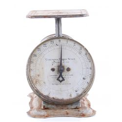 Antique 1906 Columbia Family Scale.  SIZE: see attached